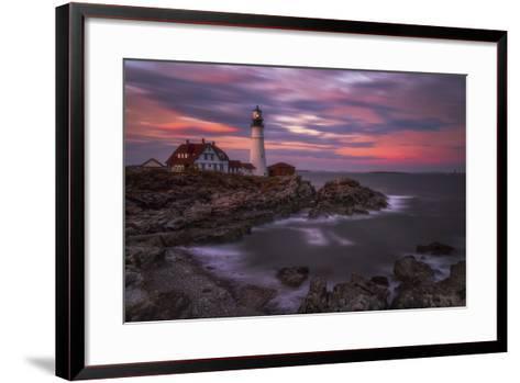 Portland Head Sunset-Darren White Photography-Framed Art Print