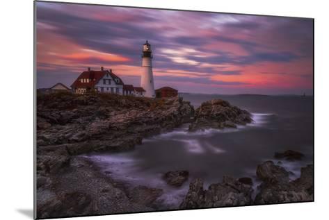 Portland Head Sunset-Darren White Photography-Mounted Photographic Print