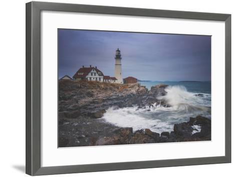 Cape Elizabeth Storm-Darren White Photography-Framed Art Print