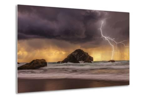 Storm at Face Rock1-Darren White Photography-Metal Print