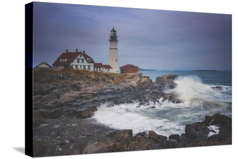Cape Elizabeth Storm-Darren White Photography-Stretched Canvas Print