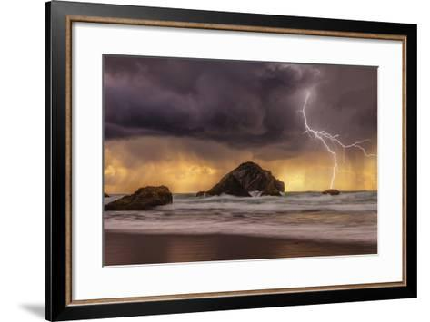 Storm at Face Rock1-Darren White Photography-Framed Art Print
