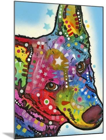 Aussie Sheep Dog-Dean Russo-Mounted Giclee Print