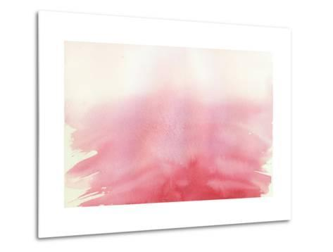 Pink Ombre Watercolor Background-holaholga-Metal Print