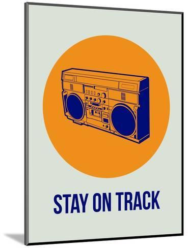 Stay on Track Boombox 1-NaxArt-Mounted Art Print