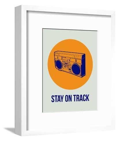 Stay on Track Boombox 1-NaxArt-Framed Art Print