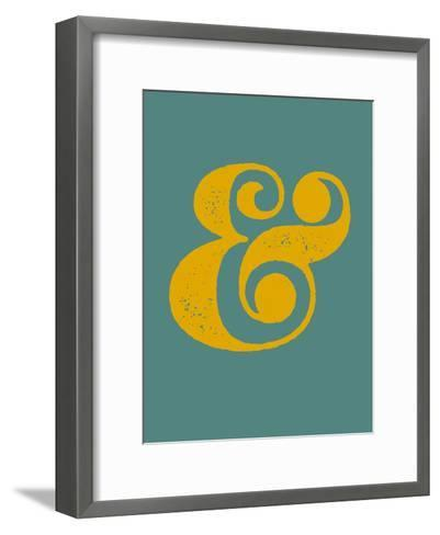 Ampersand Blue and Yellow-NaxArt-Framed Art Print
