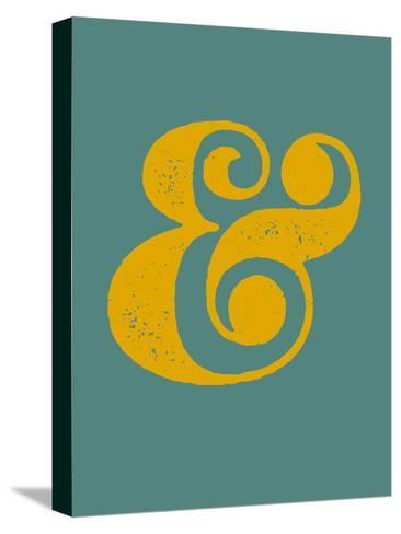 Ampersand Blue and Yellow-NaxArt-Stretched Canvas Print