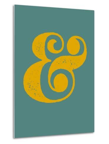 Ampersand Blue and Yellow-NaxArt-Metal Print