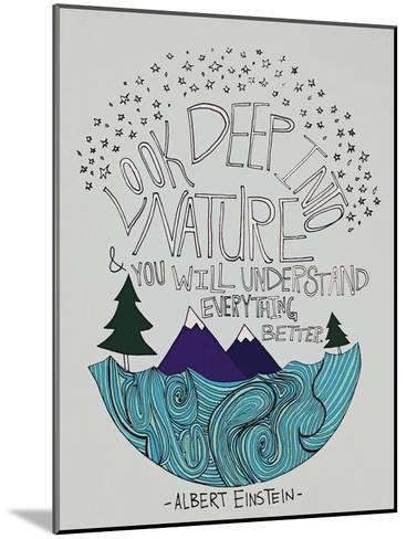 Einstein Nature-Leah Flores-Mounted Art Print