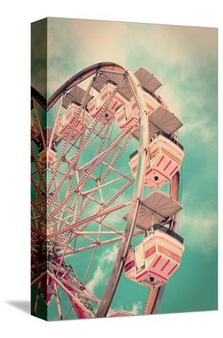 Vintage Ferris Wheel-SeanPavonePhoto-Stretched Canvas Print