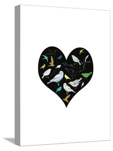 A Group of Birds Is Called a Flock-Francesca Iannaccone-Stretched Canvas Print