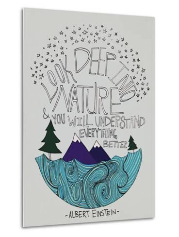 Einstein Nature-Leah Flores-Metal Print