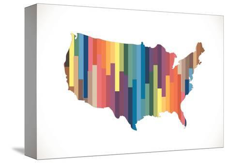 Map of USA in Idea Design--Stretched Canvas Print