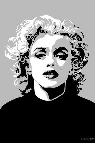 Marilyn - Goodbye Norma Jean-Emily Gray-Stretched Canvas Print