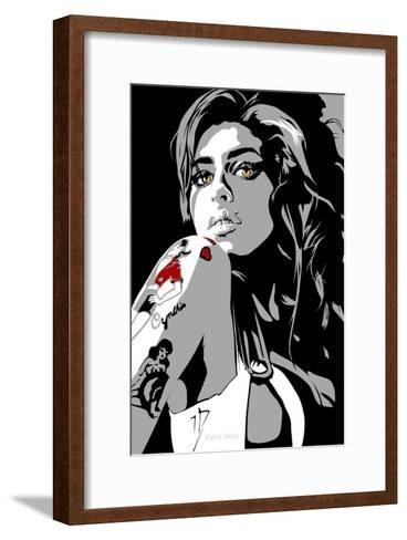 Amy Winehouse-Emily Gray-Framed Art Print
