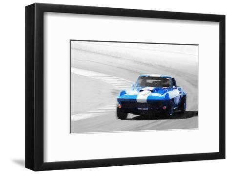 Corvette Stingray Laguna Seca Watercolor-NaxArt-Framed Art Print