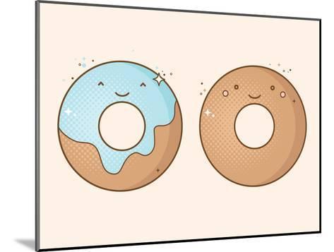 Two Smiling Donuts-korinoxe-Mounted Art Print