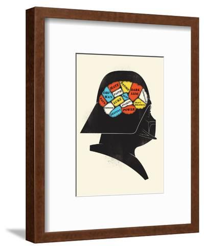 Darth-Chris Wharton-Framed Art Print