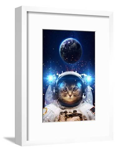 Beautiful Cat in Outer Space. Elements of this Image Furnished-Vadimsadovski-Framed Art Print