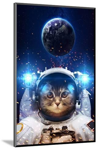 Beautiful Cat in Outer Space. Elements of this Image Furnished-Vadimsadovski-Mounted Art Print