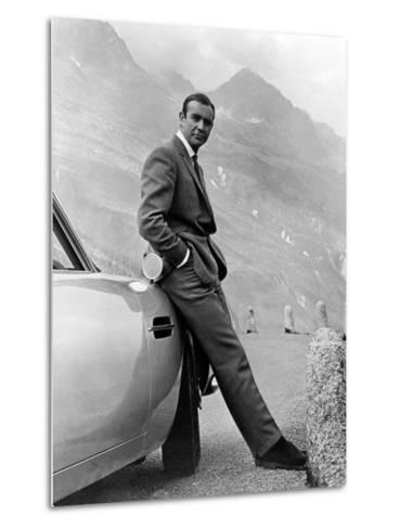 "Sean Connery. ""007, James Bond: Goldfinger"" 1964, ""Goldfinger"" Directed by Guy Hamilton--Metal Print"
