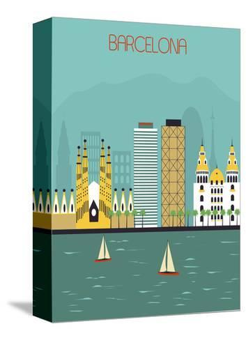 Barcelona.-Ladoga-Stretched Canvas Print