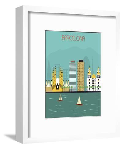 Barcelona.-Ladoga-Framed Art Print