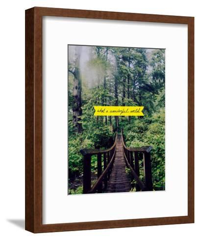 Wonderful World-Leah Flores-Framed Art Print
