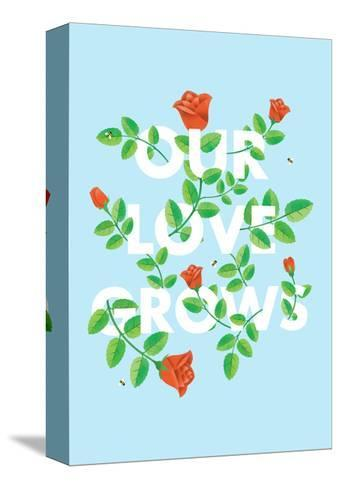 Our Love Grows-Chris Wharton-Stretched Canvas Print
