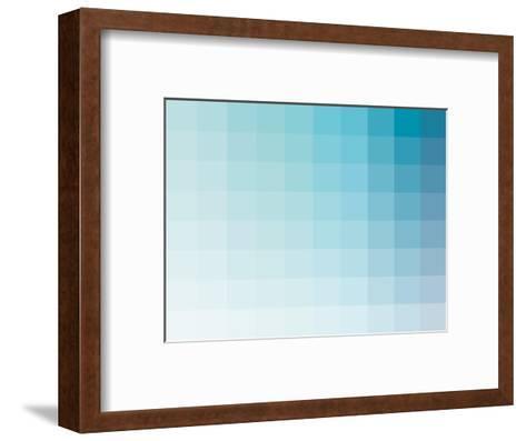 Aqua Rectangle Spectrum-Rebecca Peragine-Framed Art Print