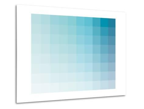 Aqua Rectangle Spectrum-Rebecca Peragine-Metal Print