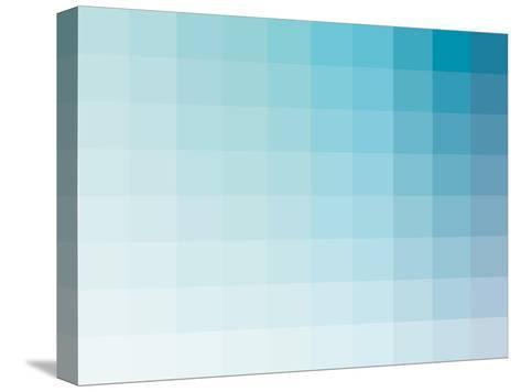 Aqua Rectangle Spectrum-Rebecca Peragine-Stretched Canvas Print