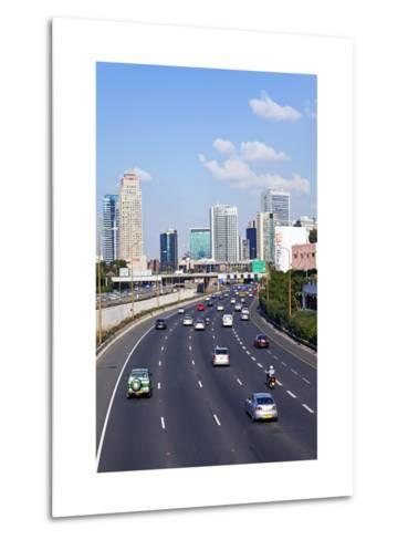 Modern Road System Leading to the Commercial Centre, Tel Aviv, Israel, Middle East-Gavin Hellier-Metal Print