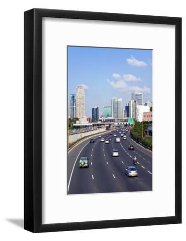 Modern Road System Leading to the Commercial Centre, Tel Aviv, Israel, Middle East-Gavin Hellier-Framed Art Print