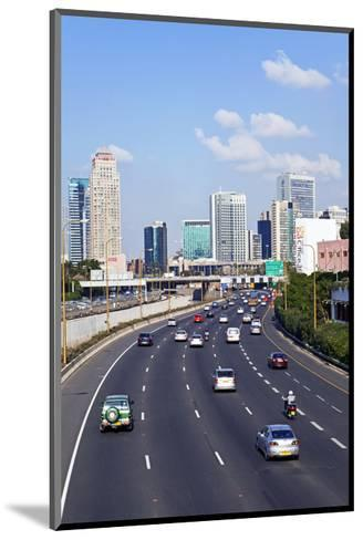 Modern Road System Leading to the Commercial Centre, Tel Aviv, Israel, Middle East-Gavin Hellier-Mounted Art Print