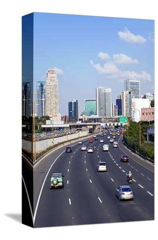 Modern Road System Leading to the Commercial Centre, Tel Aviv, Israel, Middle East-Gavin Hellier-Stretched Canvas Print