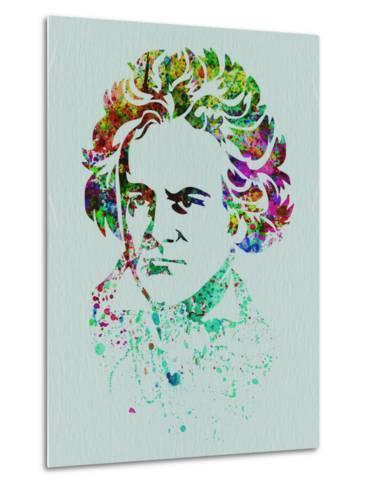 Beethoven Watercolor-Anna Malkin-Metal Print
