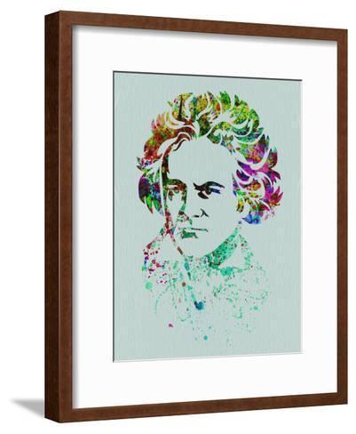 Beethoven Watercolor-Anna Malkin-Framed Art Print