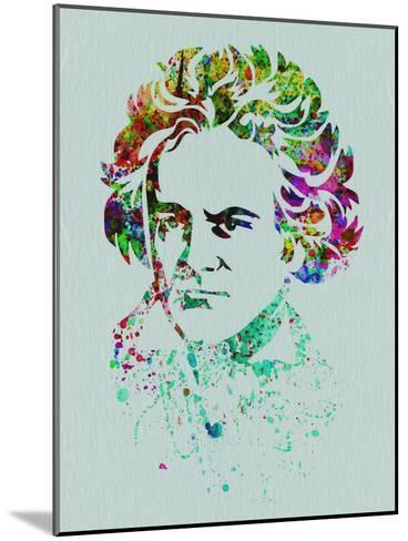 Beethoven Watercolor-Anna Malkin-Mounted Art Print
