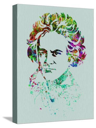 Beethoven Watercolor-Anna Malkin-Stretched Canvas Print
