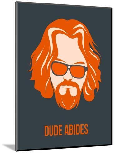 Dude Abides Orange Poster-Anna Malkin-Mounted Art Print