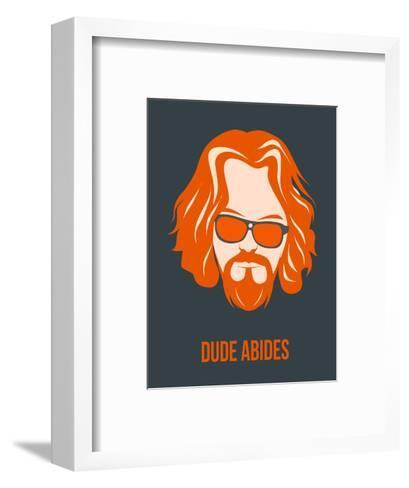 Dude Abides Orange Poster-Anna Malkin-Framed Art Print