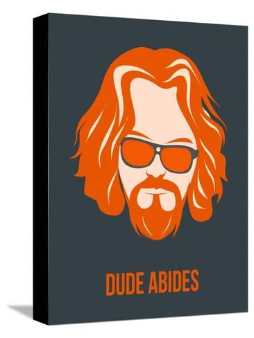 Dude Abides Orange Poster-Anna Malkin-Stretched Canvas Print