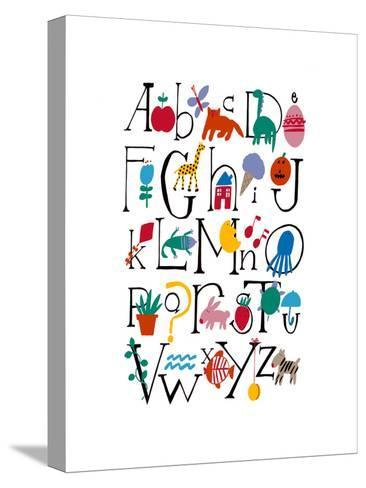 Cute Alphabet with Illustrations--Stretched Canvas Print
