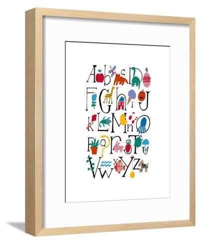 Cute Alphabet with Illustrations--Framed Art Print