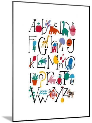 Cute Alphabet with Illustrations--Mounted Art Print