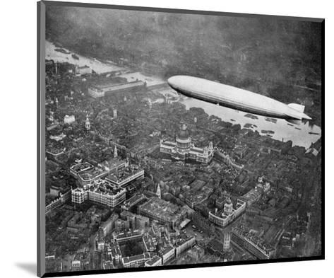 The Airship 'Graf Zepplin' over London, August 1931--Mounted Art Print