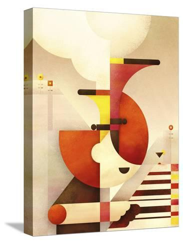 Jazzman-Antony Squizzato-Stretched Canvas Print