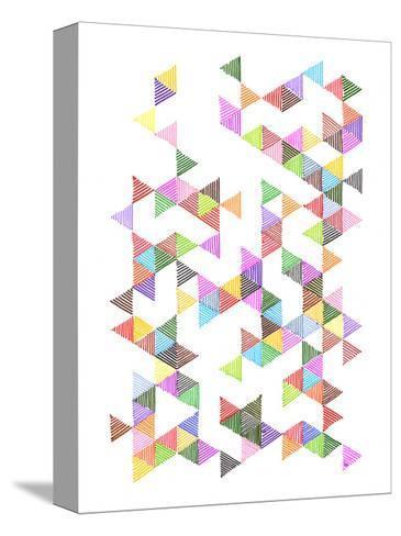 Technicolour Raindrops-Fimbis-Stretched Canvas Print